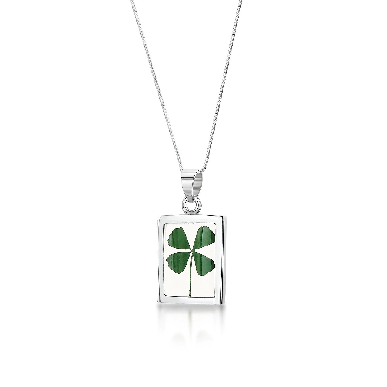 Necklace for Her - Silver Four Leaf Clover